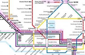 Ausszug aus dem Netzplan von Hamburg
